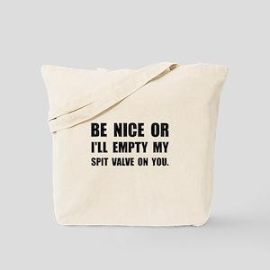 Empty My Spit Valve Tote Bag