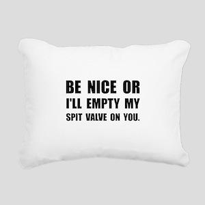 Empty My Spit Valve Rectangular Canvas Pillow