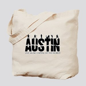 Austin Live Music Band Tote Bag