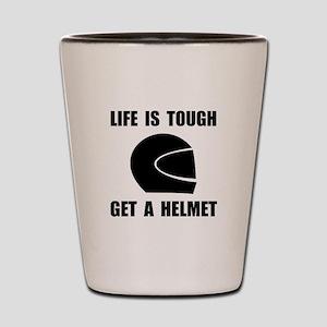 Life Tough Get Helmet Shot Glass