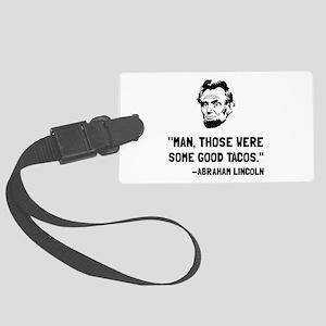 Lincoln Good Tacos Luggage Tag
