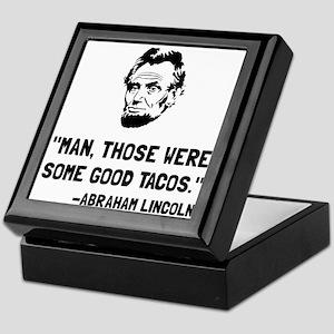 Lincoln Good Tacos Keepsake Box
