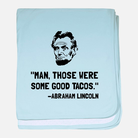 Lincoln Good Tacos baby blanket