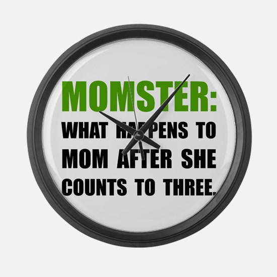 Momster Mom Large Wall Clock