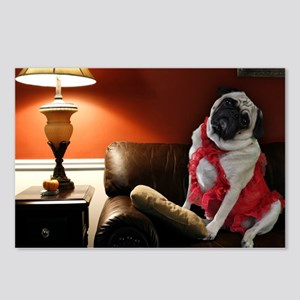 Sexy Pug Waiting for You Postcards (Package of 8)