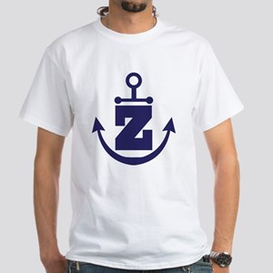 Anchor Monogram Z White T-Shirt