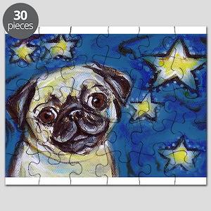 Pug Smile stars Puzzle