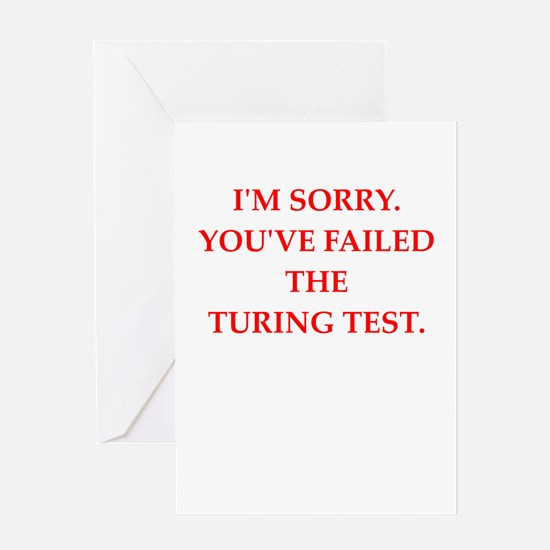turing test Greeting Cards