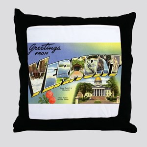 Greetings from Vermont Throw Pillow
