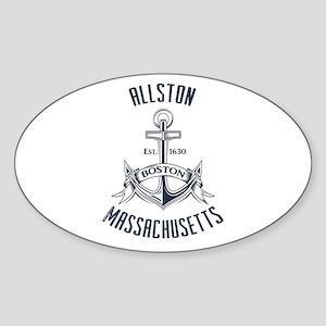 Allston, Boston MA Sticker (Oval)