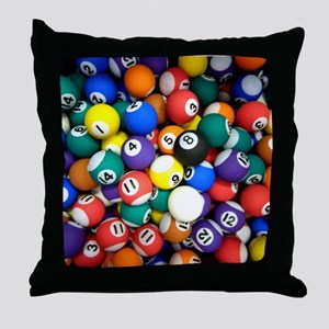 Pool Room Clock Throw Pillow