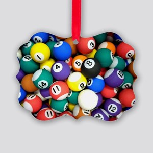 Pool Room Clock Picture Ornament