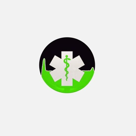Green Emergency Medical Mini Button