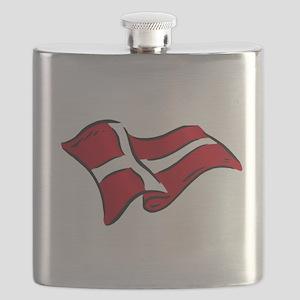 Flag of Denmark Flask