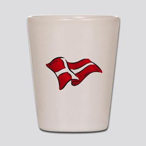 Flag of Denmark Shot Glass
