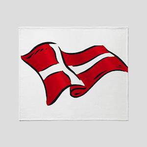 Flag Of Denmark Throw Blanket