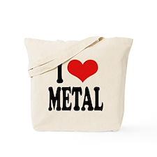 I Love Metal Tote Bag