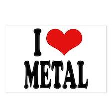I Love Metal Postcards (Package of 8)
