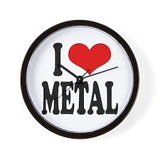 I Love Metal Wall Clock