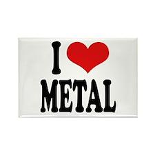 I Love Metal Rectangle Magnet