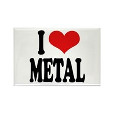 I Love Metal Rectangle Magnet