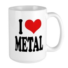 I Love Metal Large Mug