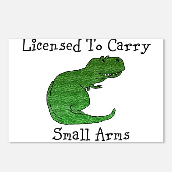 T-Rex - Licensed To Carry Small Arms Postcards (Pa