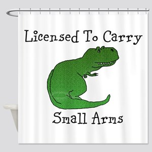 T-Rex - Licensed To Carry Small Arms Shower Curtai