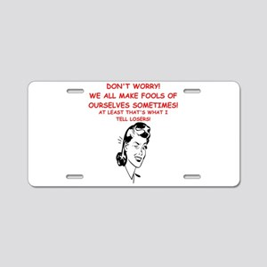 losers Aluminum License Plate
