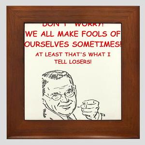 losers Framed Tile