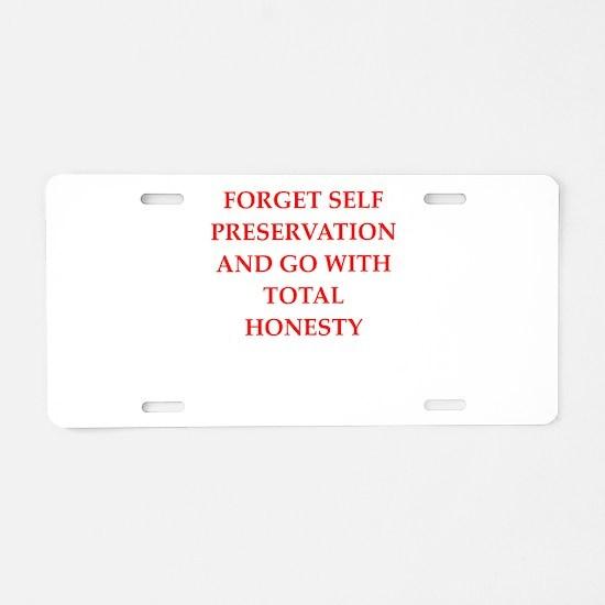 honesty Aluminum License Plate