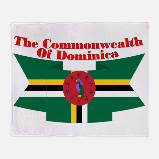 Commonwealth D Ribbon Throw Blanket