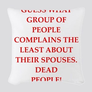 dead people Woven Throw Pillow
