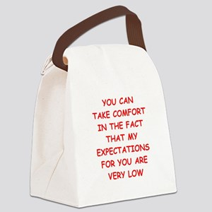 low expectations Canvas Lunch Bag