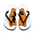 Black and Orange Halloween Witch Flip Flops