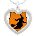 Black and Orange Halloween Witch Necklaces