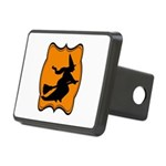 Black and Orange Halloween Witch Hitch Cover