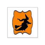 Black and Orange Halloween Witch Sticker