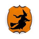 Black and Orange Halloween Witch 3.5