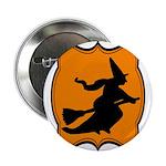 Black and Orange Halloween Witch 2.25