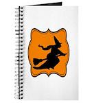 Black and Orange Halloween Witch Journal