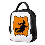 Black and Orange Halloween Witch Neoprene Lunch Ba