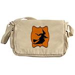 Black and Orange Halloween Witch Messenger Bag