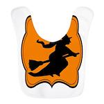 Black and Orange Halloween Witch Bib