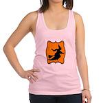 Black and Orange Halloween Witch Racerback Tank To