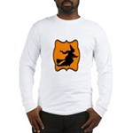 Black and Orange Halloween Witch Long Sleeve T-Shi
