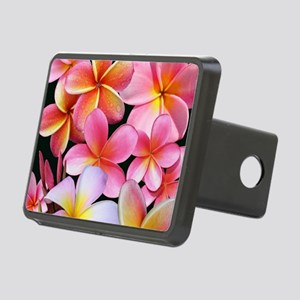 Pink Plumerias Hitch Cover