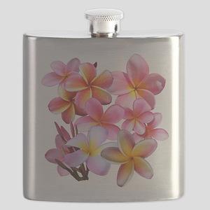 Pink Plumerias Flask