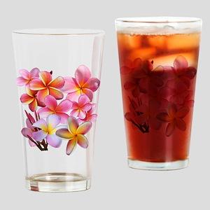 Pink Plumerias Drinking Glass