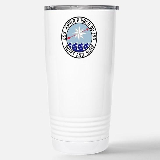 DD-753 USS John R Pierc Stainless Steel Travel Mug